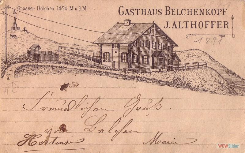 Plus ancienne carte 1895