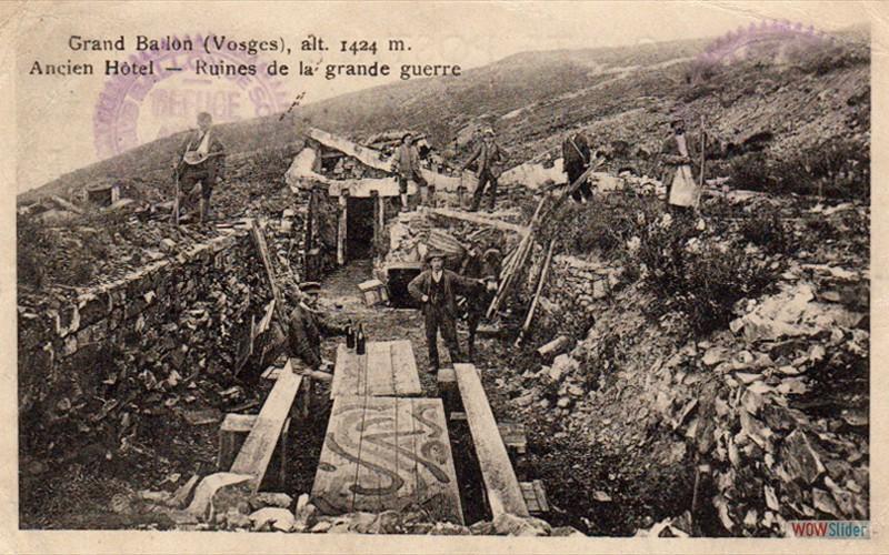 Hôtel détruit pendant la guerre