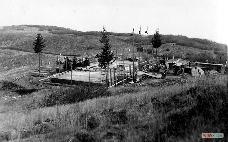 Dalle du nouvel hôtel en  octobre 1920